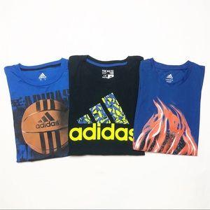 🛍Adidas Boys DryFit T-Shirt Bundle Basketball